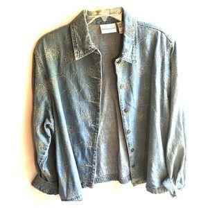 🌟ALFRED DUNNER🌟 Long sleeve blue Jean shirt sz18